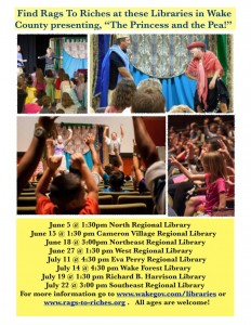 Rags to Riches Summer Library Tour 2016