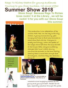 Rags to Riches Summer Show 2018 - Stone Soup